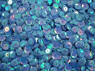 Sequins Cup 8mm Blue AB 20g Stage Dance Bead Sewing Dress Trim FREE POSTAGE