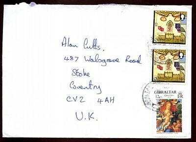 Gibraltar 2000 Cover To UK #C4443