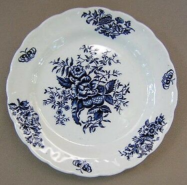 """Booths Peony Blue LOT OF 3 Bread & Butter Plates 6"""""""