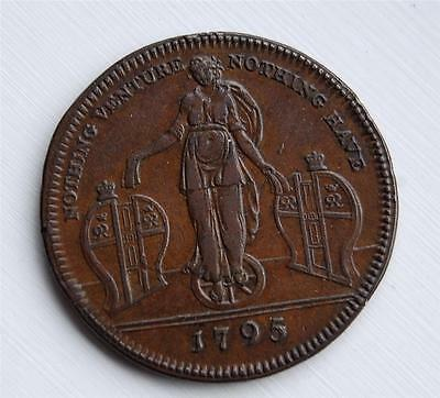 MIDDLESEX COPPER HALFPENNY TOKEN 1795 LONDON ( Richardson's) DH 467