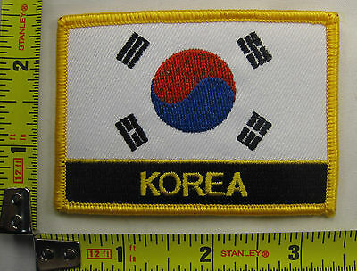 South Korea Flag Patch Korean embroidered stitching iron-on sew-on new