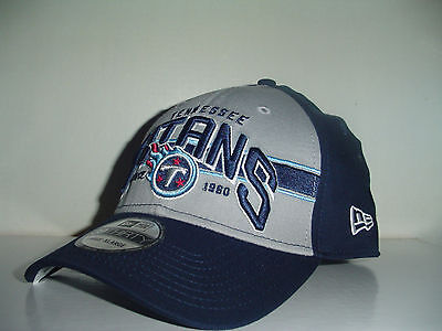 best service e77bc 5ecb8 Tennessee Titans 39 thirty Blue Gray Fitted HAT CAP New Era Sz Sm Med Tri
