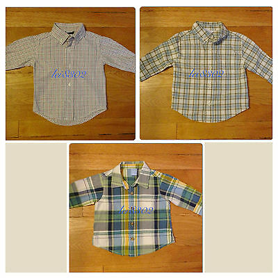 Pre-owned - MIXED LOT of LONG SLEEVED SHIRTS - INFANT BOYS - 3-6 Months