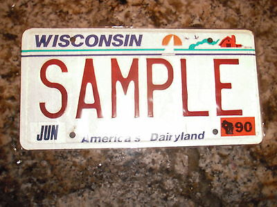 1990 Wisconsin Sample License Plate