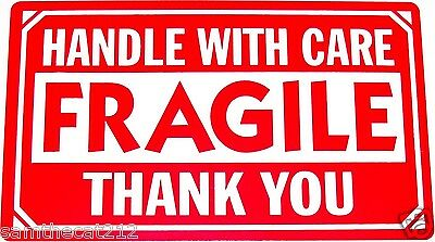 1000 2x3 FRAGILE Handle with Care Label/Sticker Best $ FREE SHIPPING