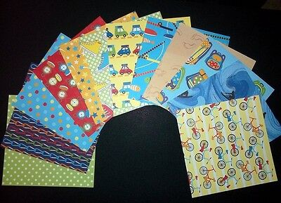 "Colourful  Scrapbooking Papers x 12 *OUTDOOR ADVENTURE* - 15cm X 15cm (6"" x 6"")"