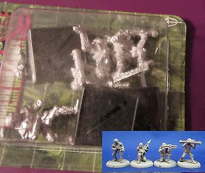 Rafm #2859 USX Remnant Forces (4) 25mm Miniatures Armored Soldiers Troopers NIB