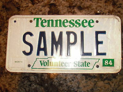 1984 Tennessee Sample License Plate