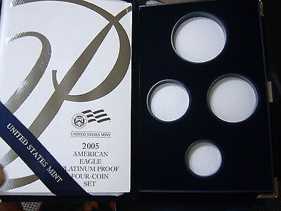2005 Platinum Proof 4 Coin Box Set  Ogp **no Coins*** Clean Box Papers