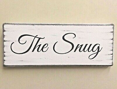 The Snug Rustic Shabby Vintage Chic Wooden Handmade Sign