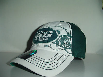 best website 78316 70d17 New York Jets NFL Fitted 47 Brand Webster Circle Logo White Green Sz M Hat  Cap