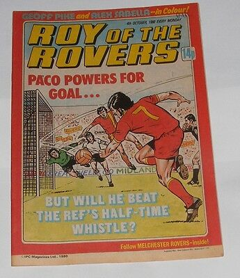 Roy Of The Rovers Comic 4Th October 1980 Geoff Pike Of West Ham United