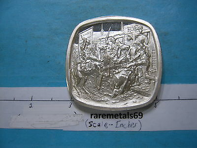 4.1 Oz In Without Knocking Old West Series Silver Russell Lincoln Mint Very Rare