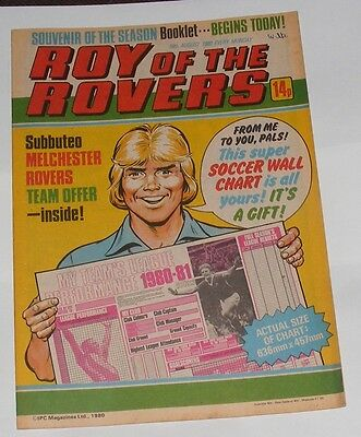 Roy Of The Rovers Comic 16Th August 1980 David O'leary Of Arsenal