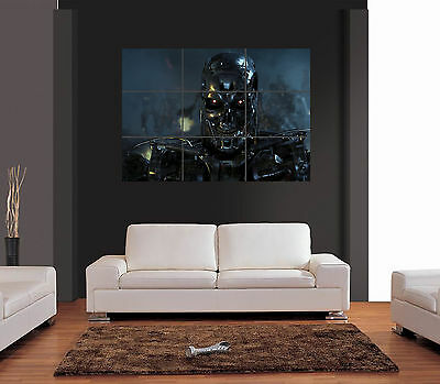TERMINATOR SKELETON Unique Vector Giant Wall Art Print Picture Poster