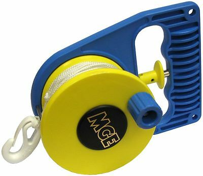 MGE - Scuba Divers SMB Ratchet Reel - Left or Right Hand use with Line and Clip