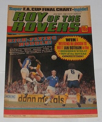 Roy Of The Rovers Comic 22Nd May 1982 Clive Allen Of Queens Park Rangers