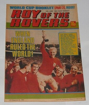 Roy Of The Rovers Comic 12Th June 1982 Bobby Moore Of England