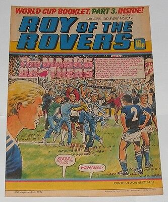 Roy Of The Rovers Comic 19Th June 1982 Franz Beckenbauer Of West Germany