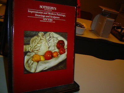 1990 SOTHEBY'S ART AUCTION CATALOG Impressionist and Modern Paintings Drawings