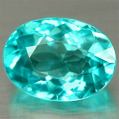 0.93 CT ~ Apatite ~ Paraiba colored ~  Oval ~ Natural Gemstone