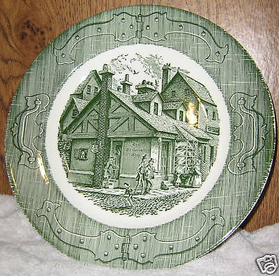 """The Old Curiosity Shop Green  Plate 10"""" Royal China"""
