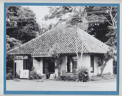 "Fettig Gallery 1978 Haleiwa Hand Printed By Photographer On 8X10"" Blue Matt"