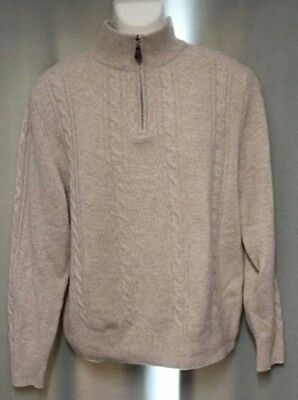 Daniel Bishop 100% Cashmere Mens Half Zip Sweater M Medium
