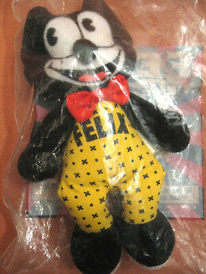 Felix the Cat Lot 2 plush toys from Wendy's Kids Meal 1996 mint never opened