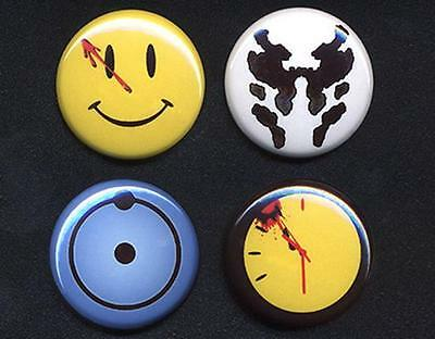 WATCHMEN Badges four Button Pins set - COOL !  25mm and LARGE 56mm size!
