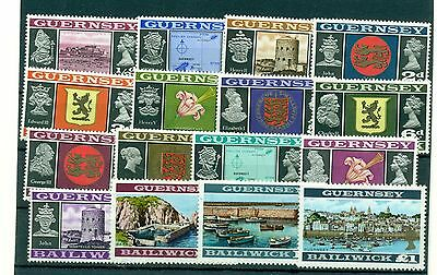 PAESAGGI - LANDSCAPES GUERNSEY 1969 Common Stamps