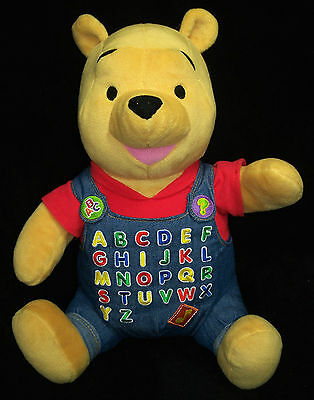 2001 Fisher-Price A to Z Pooh - Sings ABCs, Says ABCs - Soft & Cuddly Plush