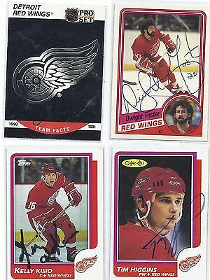 Tim Higgins Signed / Autographed Hockey Card Detroit Red Wings 1986 OPC