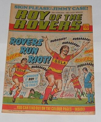 Roy Of The Rovers Comic 20Th February 1982 Jimmy Case Of Brighton & Hove Albion