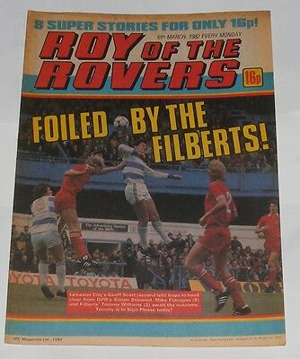 Roy Of The Rovers Comic 6Th March 1982 Tony Williams Of Leicester City