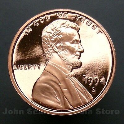 1994-S Lincoln Memorial Cent Penny - Gem Proof Deep Cameo U.S. Coin