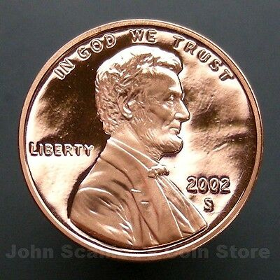 2002-S Lincoln Memorial Cent Penny - Gem Proof Deep Cameo U.S. Coin