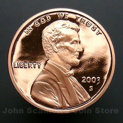 2003-S Lincoln Memorial Cent Penny - Gem Proof Deep Cameo U.S. Coin