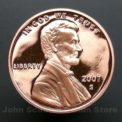 2007-S Lincoln Memorial Cent Penny - Gem Proof Deep Cameo U.S. Coin