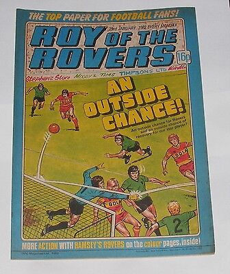 Roy Of The Rovers Comic 23Rd January 1982 Pedro Richards Of Notts County