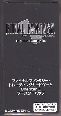 Final Fantasy TCG Booster Chapter II Sealed Box Japanese