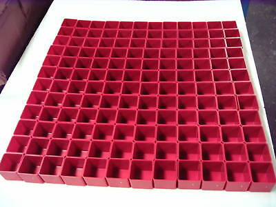 "144  2"" x 2"" x 2"" deep Red Plastic Boxes Drawer Accessories fit Lista Perfect"
