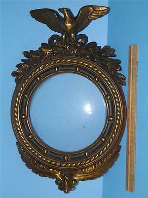 ANTIQUE  ARMOR BRONZE FEDERAL  EAGLE WALL ART PICTURE MIRROR FRAME 16'' x 10''