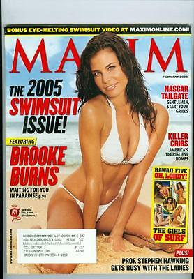 2005 Maxim Magazine: Brooke Burns - Swimsuit Issue in Paradise/NASCAR Tailgate