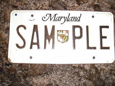 Maryland Sample License Plates