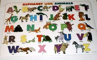 Alphabet with Animals Activity Placemat