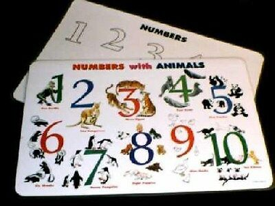 Numbers With Animals Activity Placemat