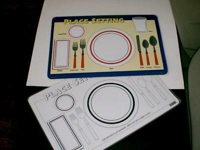 Table Place Setting Educational Placemat