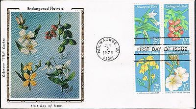 1979 Endangered Flowers Issue Block of 4 On One FDC Sc1786a Colorano Cachet