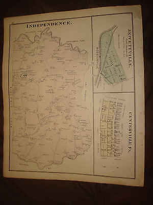 Antique Independence Township Pennsylvania Map Washington County Newspaper Print